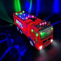 Fire Truck Toy for 3-9 Year Old Boys,4D Lighted Fire Truck Toys for 3 4 5 6 7 8