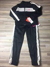 $46 Puma Kids Two Piece Track Suit Boy's Size 6 Black/White /Pink NWT