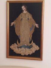 Quadro Immagine Stendardo processione inizi 800 Madonna Arte Sacra