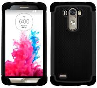 G-Shield® Shockproof Heavy Duty Tough Hybrid Armour Hard Case Cover For LG G3