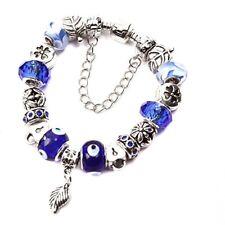 "7.9"" Charm Bracelet Murano Glass Bead Charm Bead Leaf Jewelry Findings Bracelet"