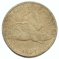 1857 United States Flying Eagle Cent Penny - VF
