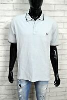 Maglia Polo Camicia Uomo FRED PERRY XL Manica Corta Shirt Man Herrenhemd Jersey