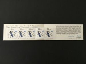 GERMANY BOOKLET 1993 MNH INSECTS BEETLE KÄFER SCARABÉE RARE!! m2439