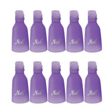 10x Purple Acrylic Nail Art Soak Off Clip Cap UV Gel Polish Remover Supplies