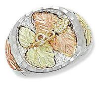 Landstrom's® Black Hills Silver Men's Ring with 12k Gold Leaves Size 9-14
