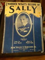 I Wonder What's Become of Sally - Vintage Sheet Music - Al Jolson Cover 1924