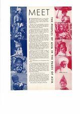 VINTAGE 1933 PEOPLE OF ASIA NUDE JAPAN KOREA PERSIA TIBET CHINA JAPAN AD PRINT