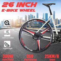 "300W 26"" in Electric Motor E-bike Rear Wheel Hub Motor Bicycle Conversion Kit"