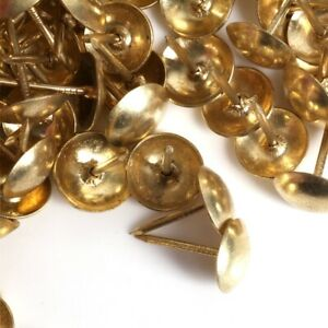 1000x POLISHED BRASS UPHOLSTERY NAILS Decorative Fabric Furniture Tack/Stud/Pin