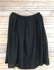 New York & Company 7th Avenue Design Studio Sz 14 Black Lined Skirt with Pockets
