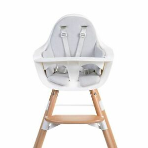 Childhome Highchair Seat Cushion for Newborn Baby-Tricot Pastel Mouse Grey