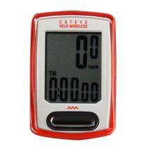 CATEYE Red Cycling Digital Velo Wireless Computer Speedometer CC-VT230W