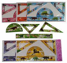 😊 6 x Dinosaurier Lineal Set 4 tlg. als Mitgebsel Tombola Gewinn Dino Party
