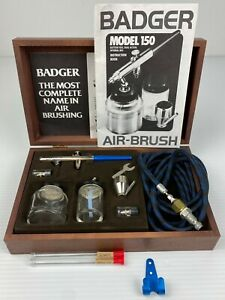 Badger Air-Brush Co 150-5 Professional Airbrush Set in Wood Grain Storage Case