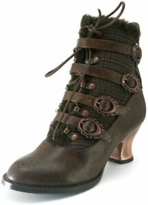 Hades Shoes - Nephelle Victorian Ankle Booties