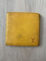 Louis Vuitton Tassil Yellow Purple Epi Leather Vintage Marco Wallet Purse