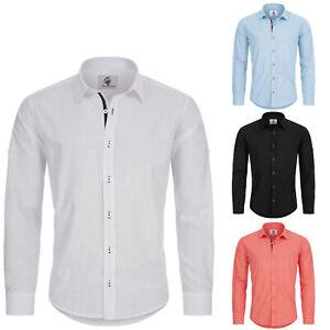 Designer Rock Creek Herren Leinen-Optik Hemd Casual Hemd Übergrößen RC-018