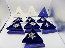 New ListingSwarovski Crystal Christmas Star Snowflake Ornament Collection 2000-2007 (7) -Ct