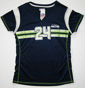 NFL Seattle Seahawks Marshawn Lynch Womens Draft Me Fashion Touch Jersey Shirt