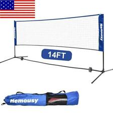 14 Feet Portable Badminton Volleyball Tennis Net Set with Stand/Frame Carry Bag