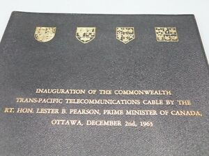 Inauguration of The Trans-Pacific Cable by Prime Minister 1963 Leather case