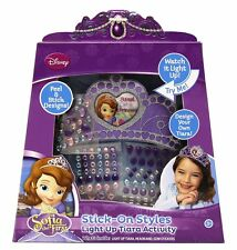 NEW Disney Princess Sofia the First Stick on Styles Light up Tiara Activity set