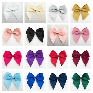 10cm Large Grosgrain Bows - Self Adhesive Pre Tied 38mm Ribbon Bow Wedding Craft