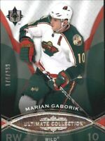 2008-09 Ultimate Collection Wild Hockey Card #18 Marian Gaborik /299