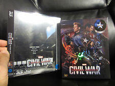 Captain America Civil War NovaMedia Full Slip w/PET [Korea] 3D Blu-Ray Steelbook