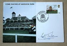 Vieni a RACING Haydock Park 1979 Copertina Firmata da Colin TINKLER