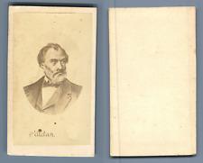 Pelletan, d'après dessin Vintage albumen  Carte de Visite, CDV,  Tirage a
