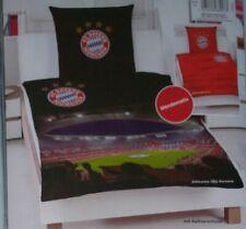 FC Bayern München FCB Microfaser Bettwäsche Set 135x200cm 100% Polyester Schwarz