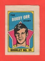 1971-72 O-Pee-Chee OPC  # 24 Bobby Orr Booklet  Exmt