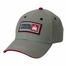 International Harvester *Grey Twill* Patch Logo Hat Cap New! Ih2330