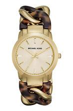 Michael Kors MK-4279 'Lady Nini' Tortoise Chain Link Bracelet Watch 35mm