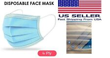 50 pcs 4-Ply Blue Face Mask Earloop Surgical Medical DENTAL AUTHORIZED SELLER