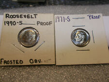 Roosevelt Dimes Mixed Dates 1970-S - 1971-S Proofs
