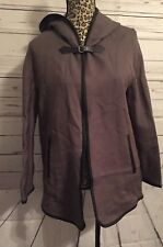 Zara Trafaluc Womens Jacket Green Brown Black Hooded Cape Coat Size S