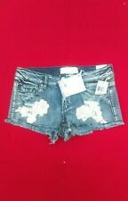 Almost Famous Distressed Jean Shorts ~ Nwt 7 Light Wash