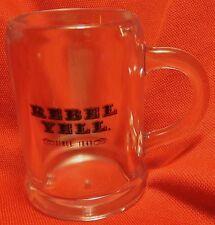 Rebel Yell Miniature Mug Shot Glass - Clear Plastic - NEW