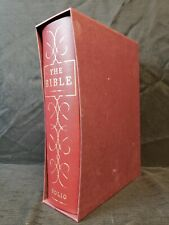 Folio Society The Bible With Apocrypha King James Version KJV Slipcase Box Book