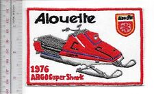 Snowmobile Alouette ARGO Super Shatk 1976 Promo Patch Montreal, Qc