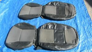 99-03 Saab 9-3 Convertible Charcoal Driver & Passenger Sides Leather Seat Covers