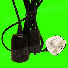 CE Certified ES E27 PORCELLANA NERO 3 Pin Spina LUCE LAMPADA CALORE titolare UK venditore.