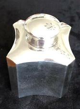 Antique silver tea caddy Birmingham 1906, S Blackensee and Son Ltd. 76.54g