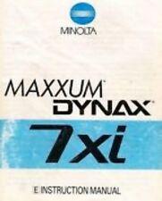 MINOLTA MAXXUM DYNAX 7xi SLR 35mm CAMERA OWNERS INSTRUCTION MANUAL -MINOLTA