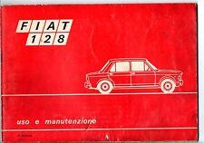Libretto uso manutenzione Fiat 128 4/a edizione