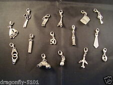 Set 15 Fifty Shades of Grey Inspired Clip On Charms for Bracelet-Elizabeth*SRAJD