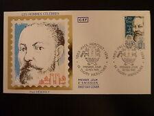 FRANCE PREMIER JOUR FDC YVERT 2400  PAUL HEROULT  2,20+0,50F THURY HARCOURT 1986